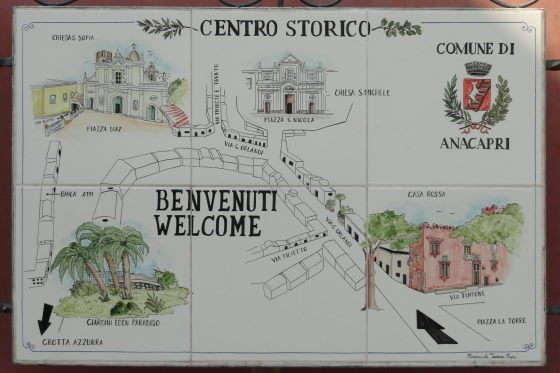 Kaart Anacapri