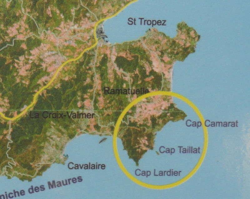 Cap Lardier - kaartje