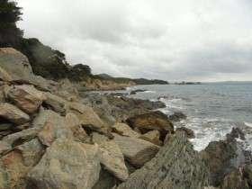 Kust bij Fort Brégancon