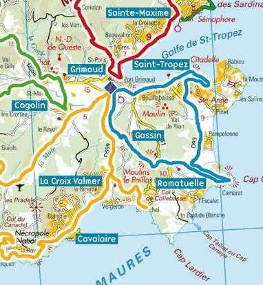 Kaart omgeving Saint Tropez