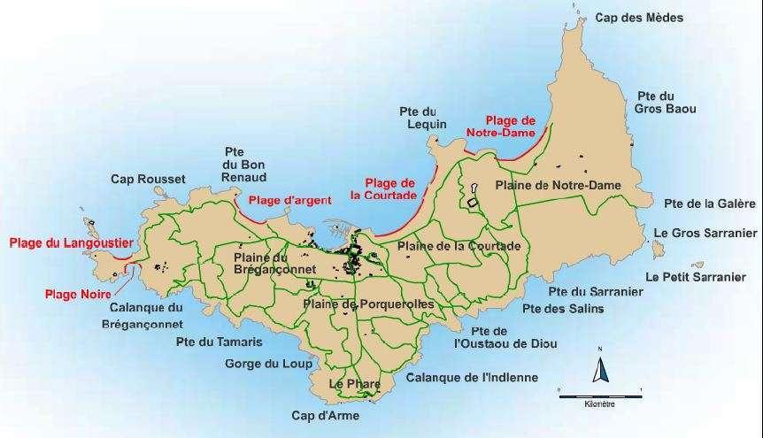 Kaart Porquerolles