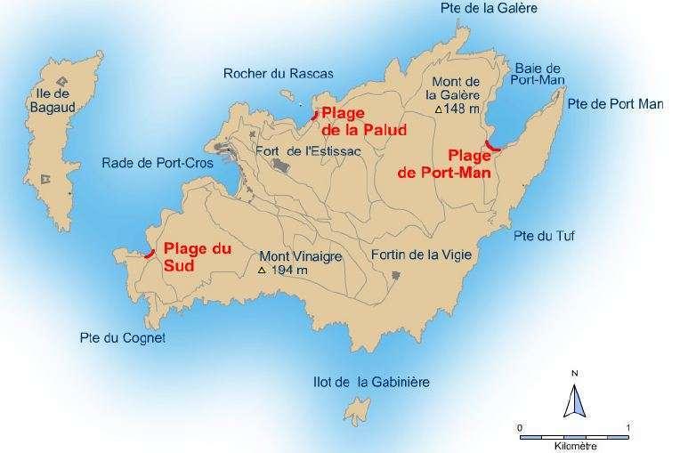 Kaart Port-Cros