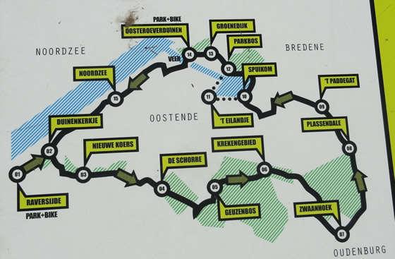 Kaart Groen lint