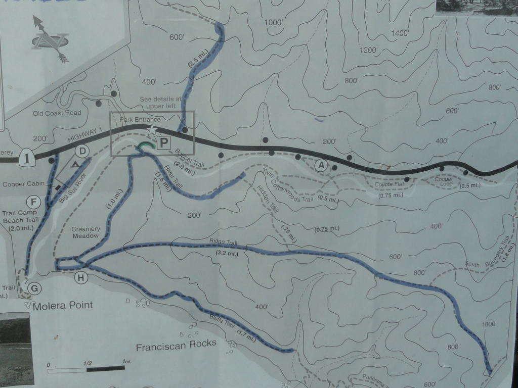 Kaart Andrew Molera State Park