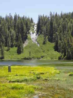 Twin Lakes and falls
