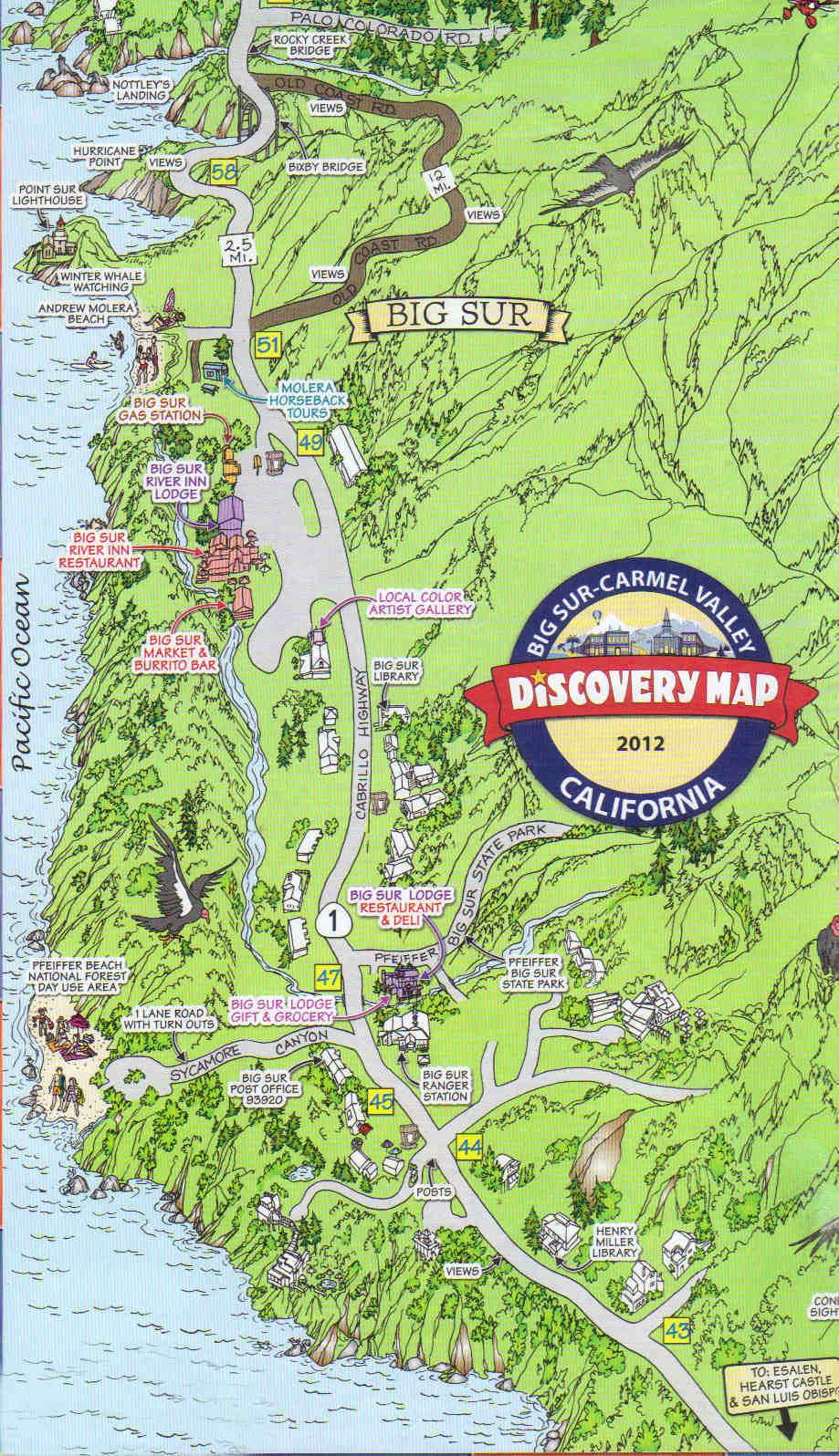 Kaartje Big Sur