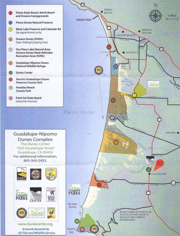 Kaart Guadalupe Dunes