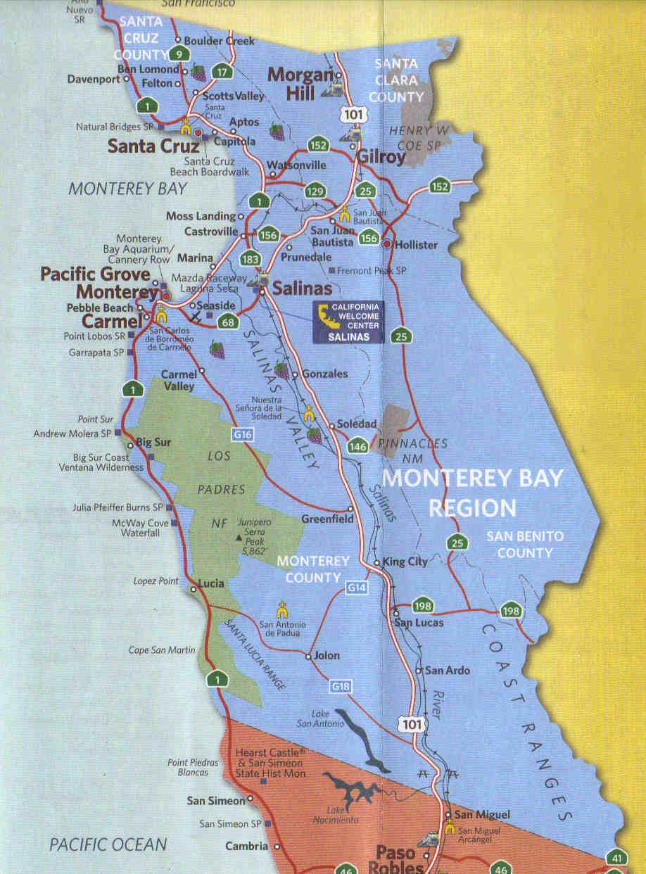 Kaart Monterey