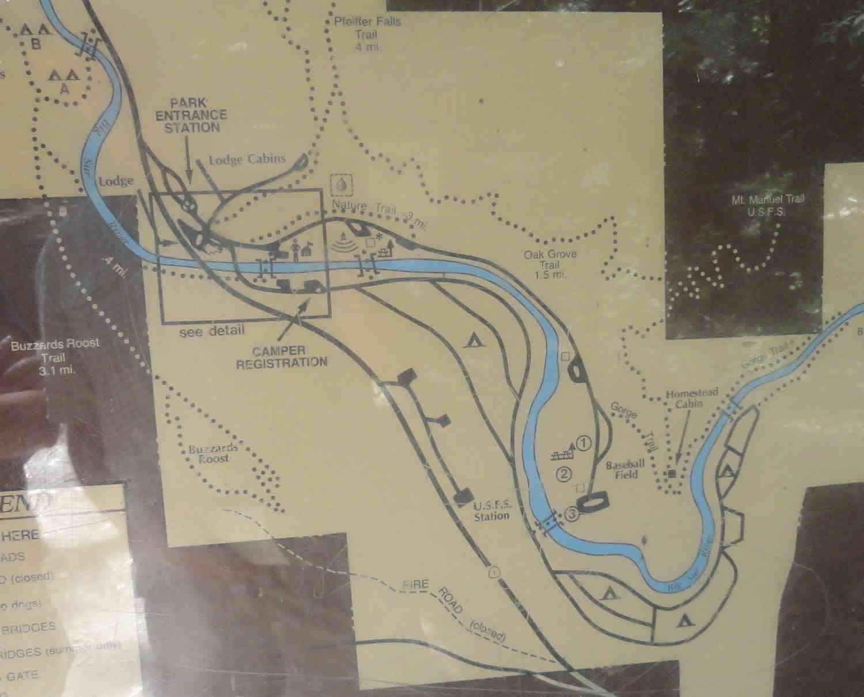 Kaart Pfeiffer Big Sur State Park