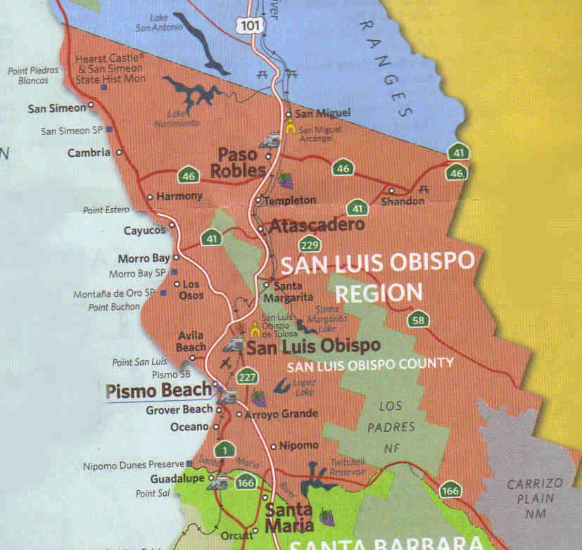 Kaart San Luis Obispo