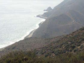 Kustlijn nabij Santa Barbara