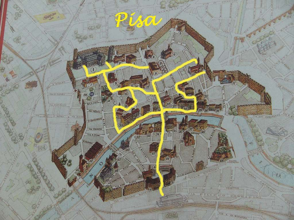 Pisa - Kaart Wandeling