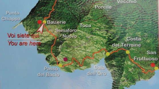 Kaart Parco Regionale di Portofino
