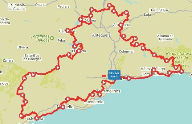 Kaart Gran_Senda_de_Malaga