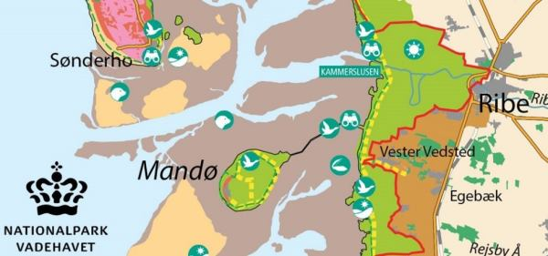 Vadehavetcenter Kaart