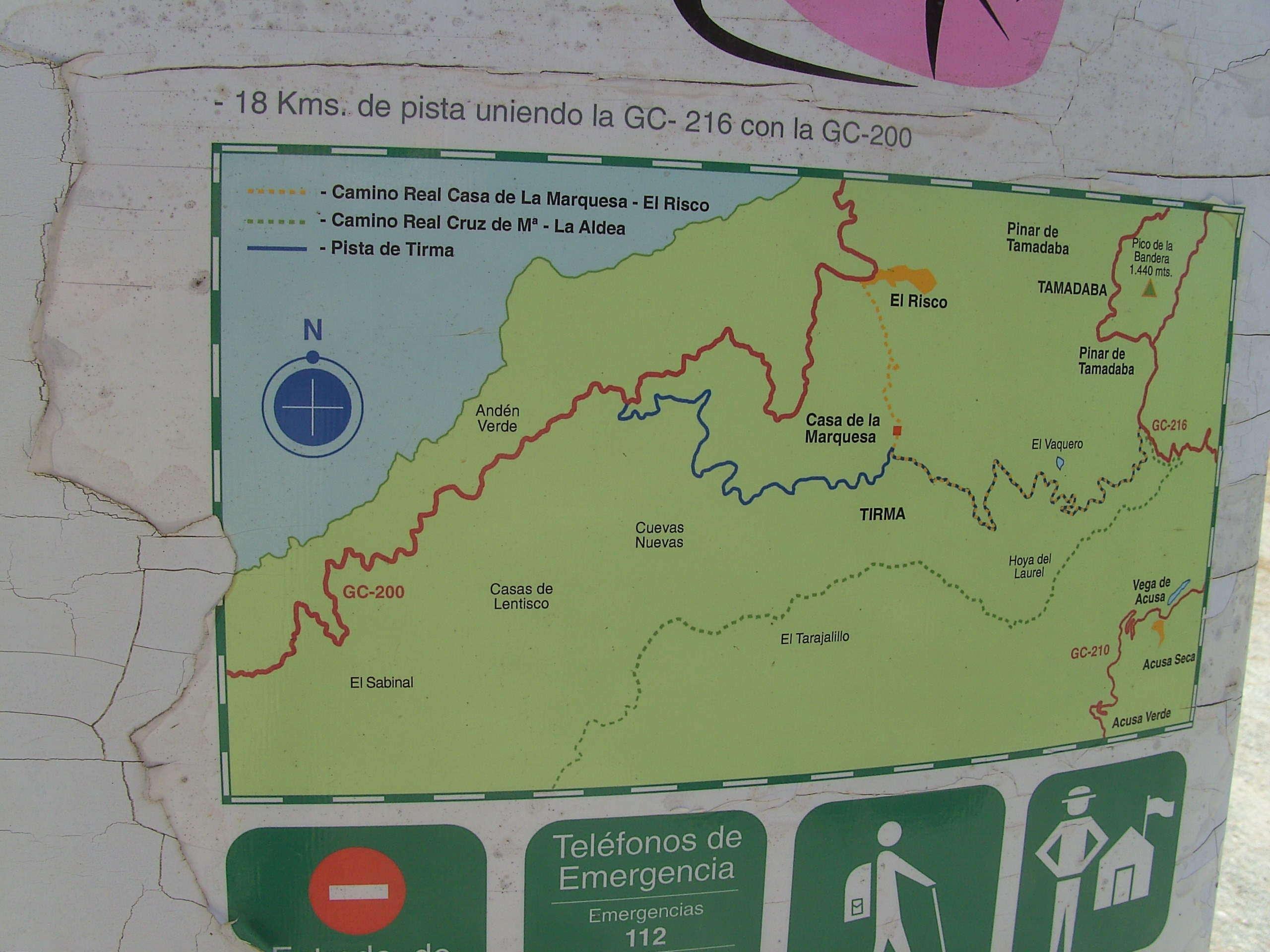 Kaart Tamadaba