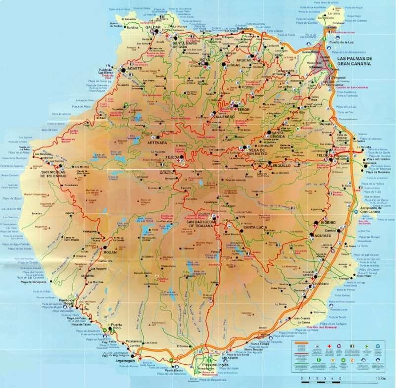 Kaart gran canaria - Isla de las palmas de gran canaria ...