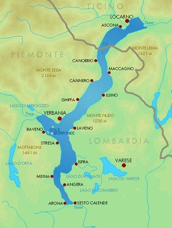Kaart Lago Maggiore