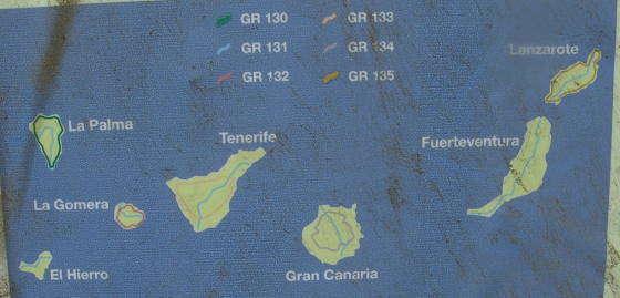 GR paden Canarische Eilanden