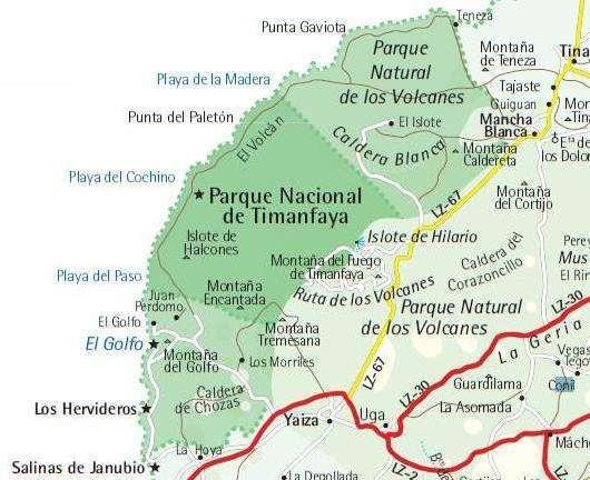 Kaart Nationaal Park