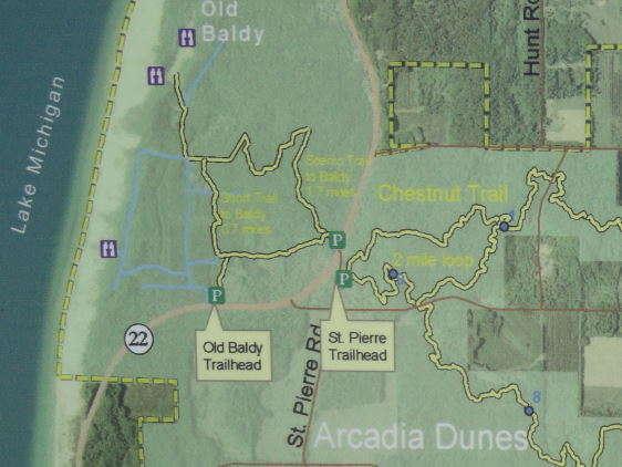 Kaart Arcadia Dunes