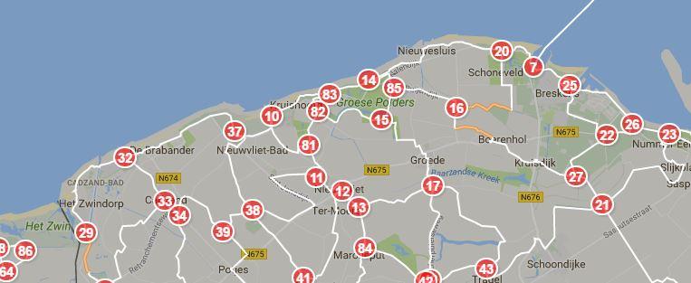 Fietsknoopunten Zeeuws_Vlaanderen