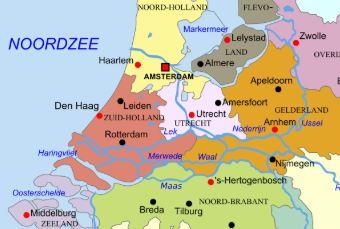 kaart provincies
