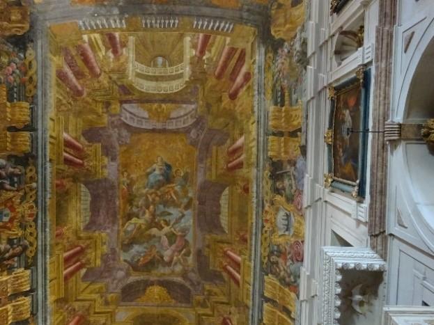 fresco's op het plafond
