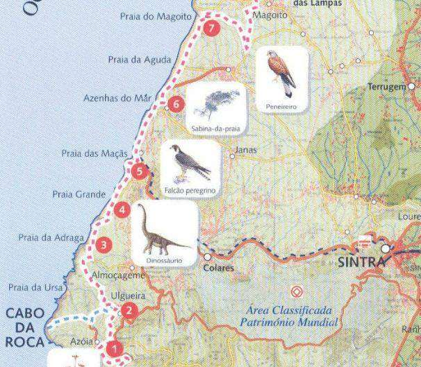 Carte Cabo da Roca - GR11