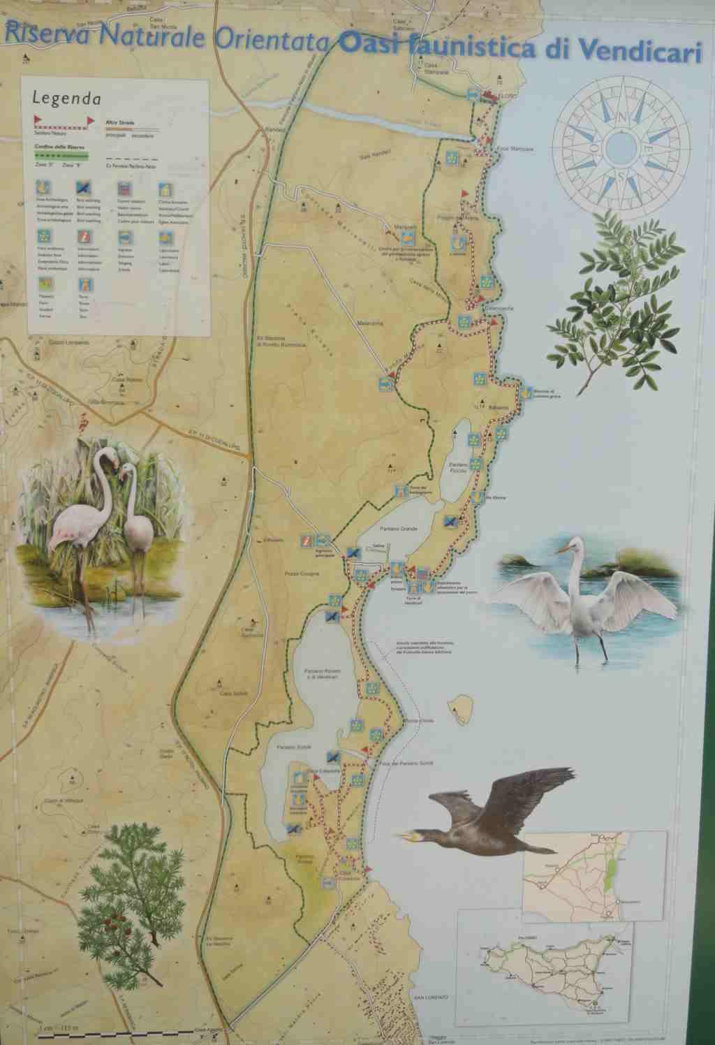 Kaart Vendicari